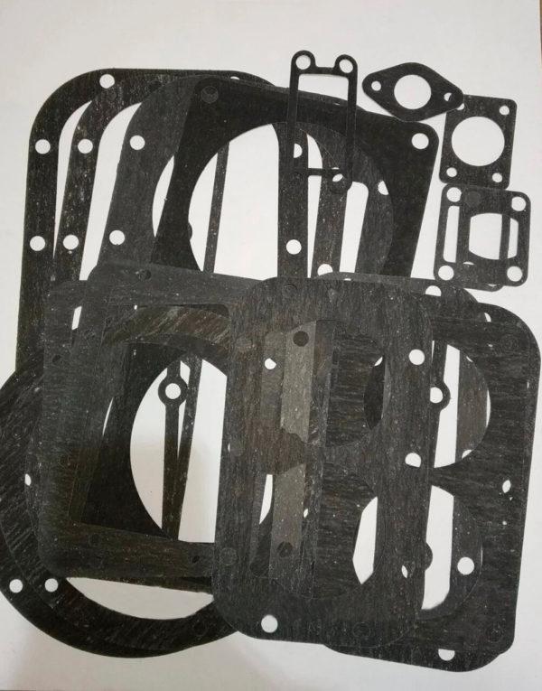Комплект прокладок для компрессора 4ВУ1-5/9 (паронит 1,0 и 1,5мм) 12шт